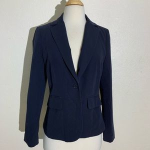 Forever 21 Womens Blazer S Navy Blue L/S Collared